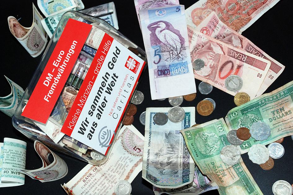 Ausländische Münzen Spenden