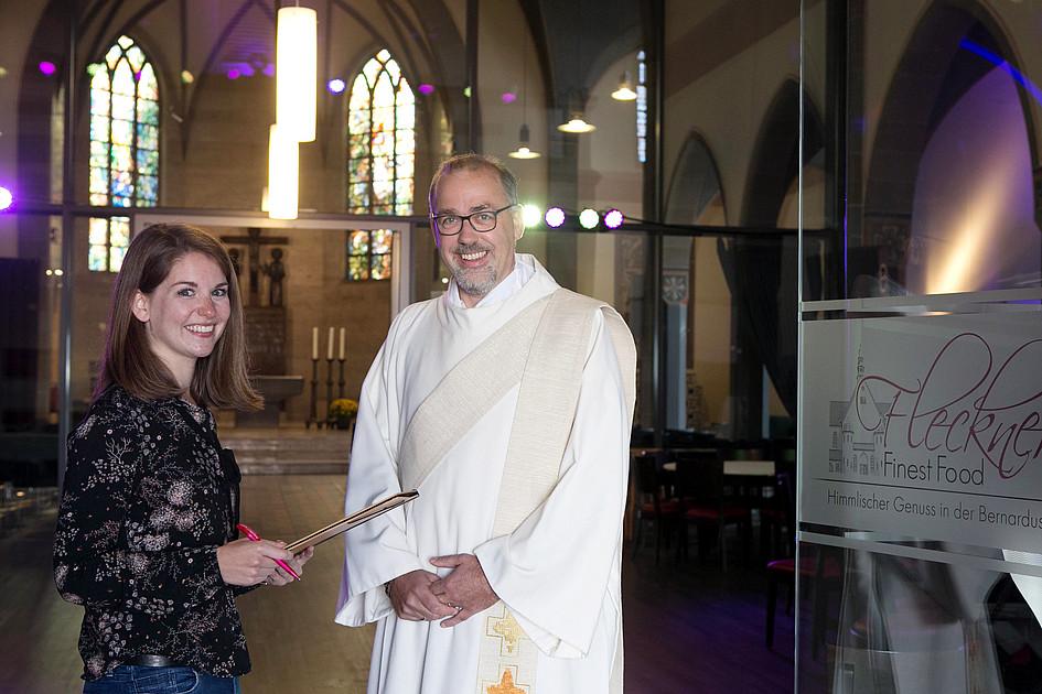 Hochzeit zwischen kirche und essen